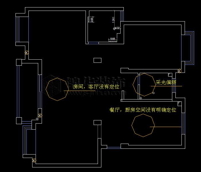 莱茵东郡沁茵苑105平米户型解析 装修设计方案