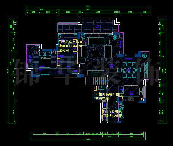 栖园三室两厅装修效果图