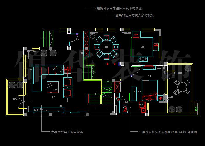 招商依云溪谷300平米别墅户型解析-装修设计方案-南京