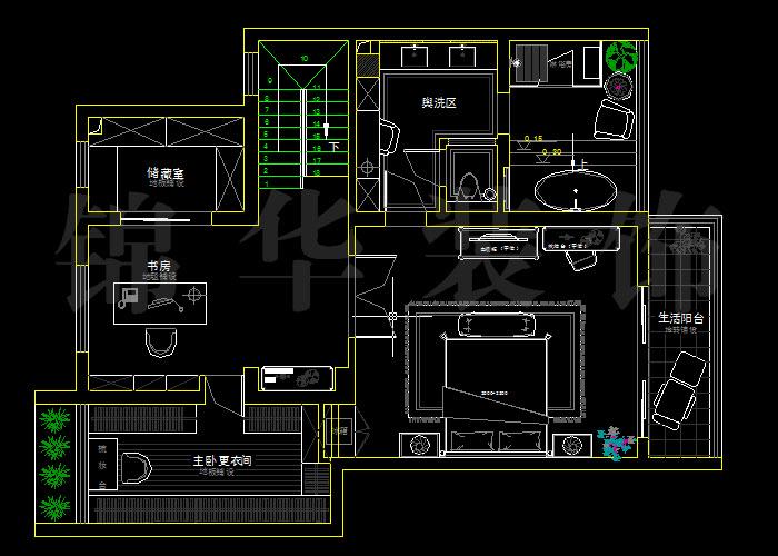 碧桂嘉苑250平米四室兩廳-裝修設計方案-南京錦華裝飾
