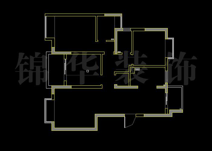 湖滨三室两厅105平米户型解析 装修设计方案 南京锦华装饰