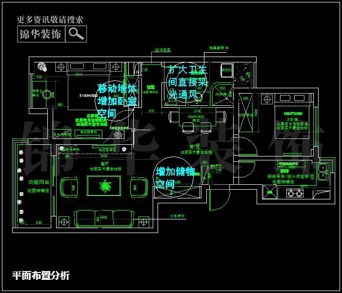 金地名京88平米户型解析 装修设计方案