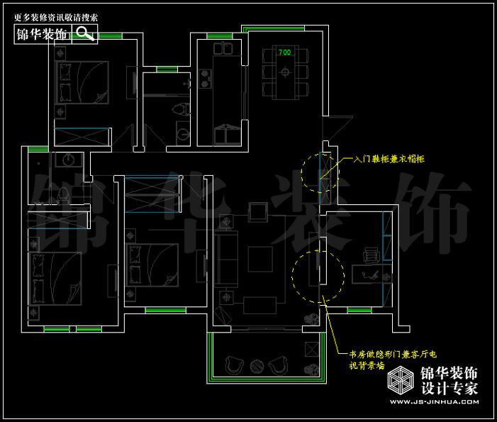 仙龙湾143平米 户型