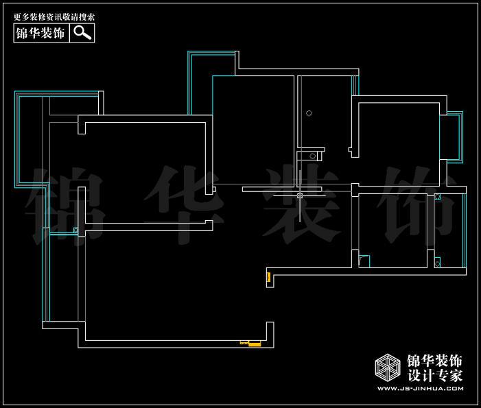 <strong><a href='http://www.js-jinhua.com/Unit-show-id-56/' target='_blank' class='strong'>万达华府</a></strong>108平米 户型