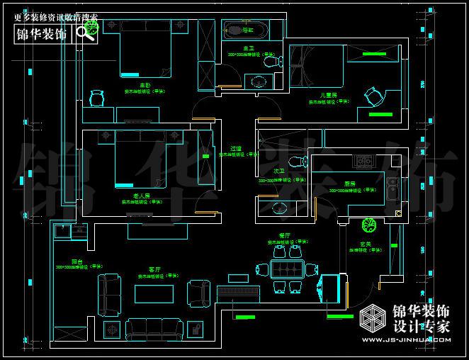 房子装修设计图1厅3室图片 农村3室1厅平面设计图,110平