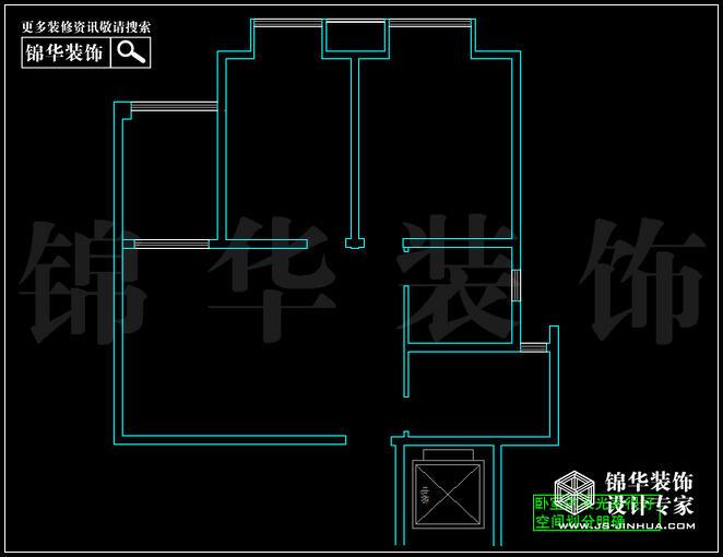 奥体新城青铜园F户型90平米 户型