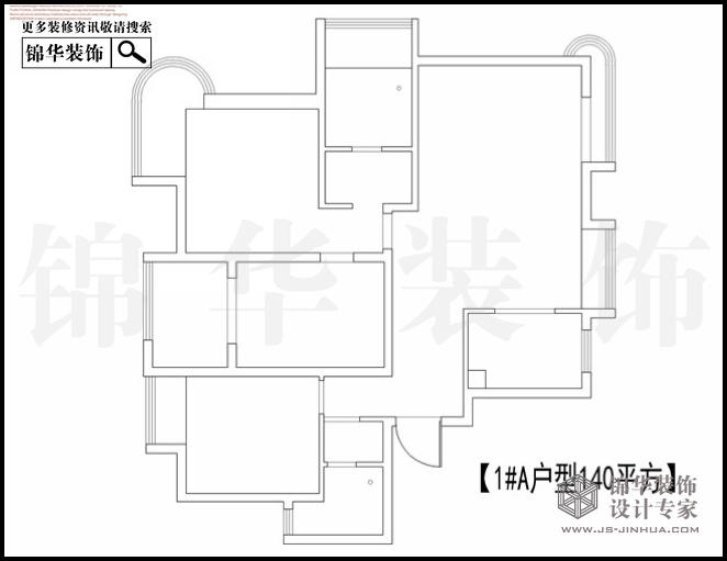苏宁睿城1栋A户型140平米 户型