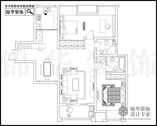 苏宁睿城2栋D户型134平米 户型