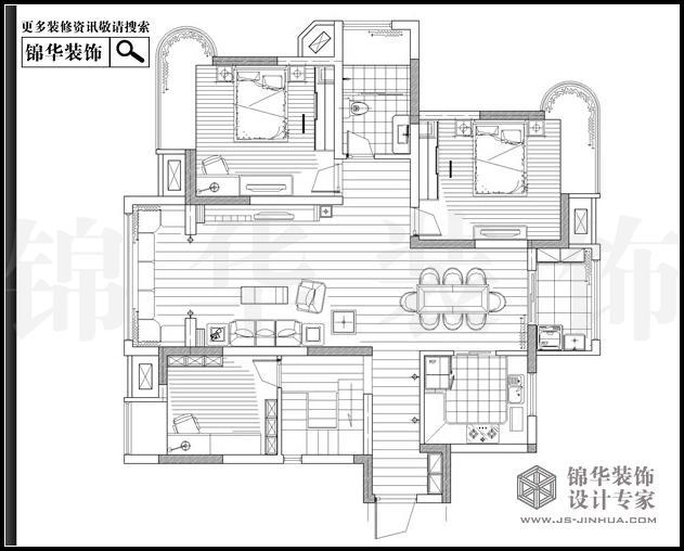 苏宁睿城2栋E户型跃层280平米 户型