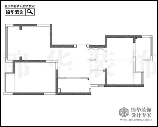 苏宁睿城4栋F户型117平米 户型