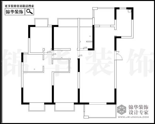 苏宁睿城4栋J户型169平米 户型