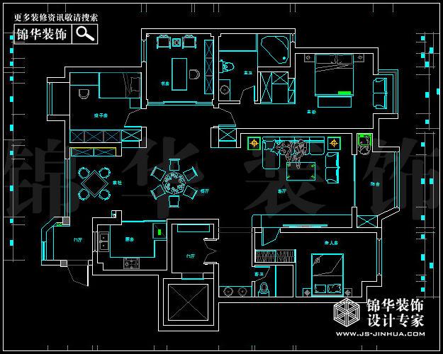 保利紫晶山b户型170平米新中式户型解析-装修设计方案
