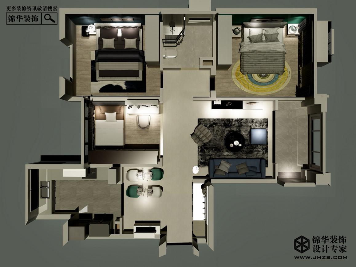 房屋俯视图手绘