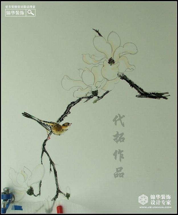 中式园林小品手绘线稿