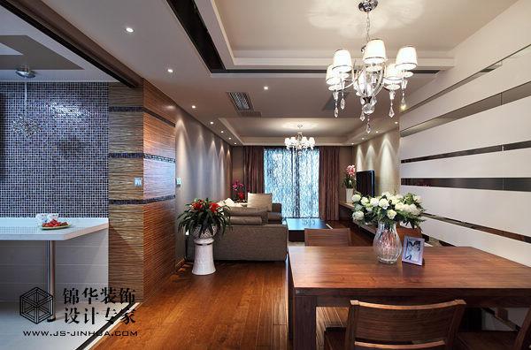 左邻风度装修图片-三室两厅装修效果图-现代简约风格