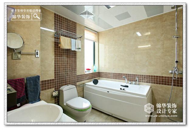 南京金域中央广场装修图片-三室两厅装修效果图-简欧