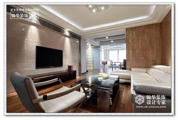 奥体新城丹枫园装修图片-三室两厅装修效果图-现代