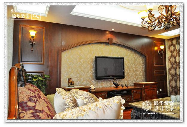 太平宝邸花园装修图片-大户型-欧式古典风格-南京锦华