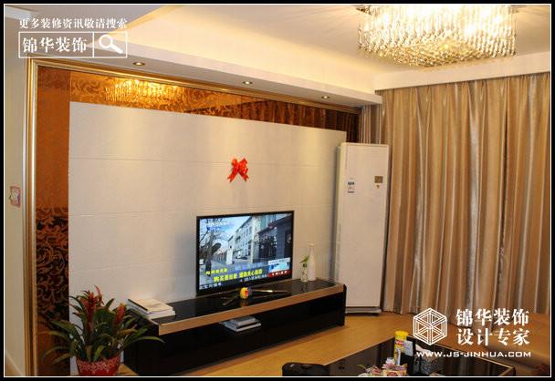 旭日上城装修图片 三室两厅装修效果图 现代简约风格 南京锦华装饰设