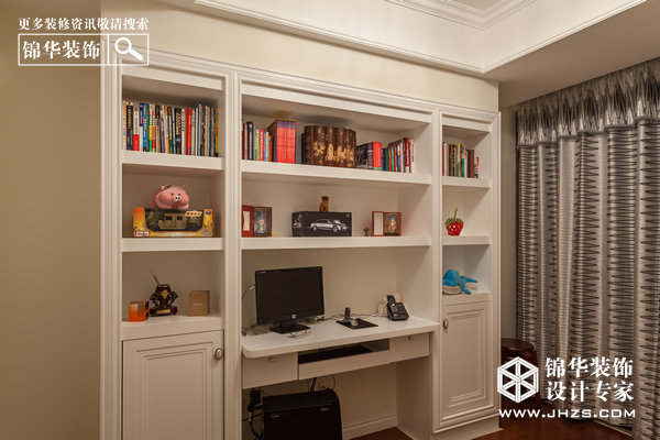 书房装修效果图-装修图片-南京锦华装饰设计公司
