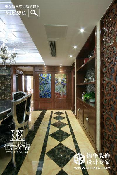 揽月山庄装修图片-三室两厅装修效果图-欧式古典风格