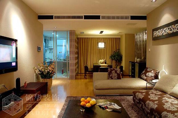 银河湾装修图片-三室两厅装修效果图-现代简约风格