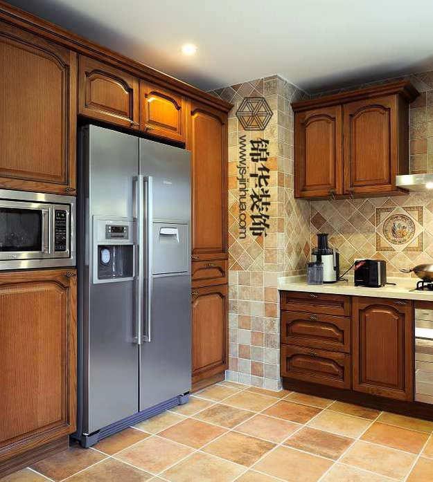 欧式厨房移门装修效果图