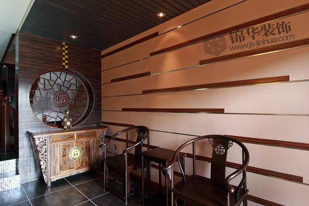 幼儿园楼梯墙面中国风布置图片