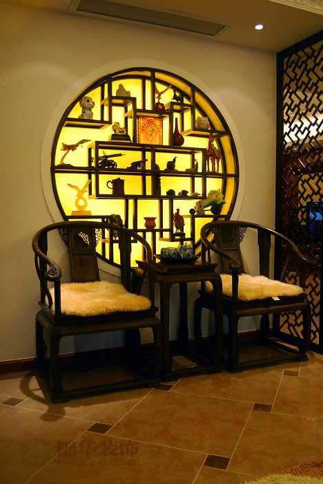 新街口装修图片 跃层 复式装修效果图 新中式风格 南京锦华装饰设计公