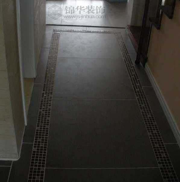 黑色地砖装修 客厅