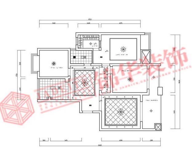 合鑫广场 简约风格 三室两厅装修效果图 锦华装饰作品 -合鑫广场